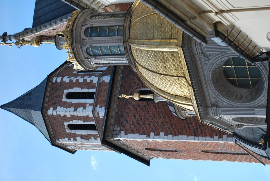 Den gyllene kupolen till Sigismundkapellet