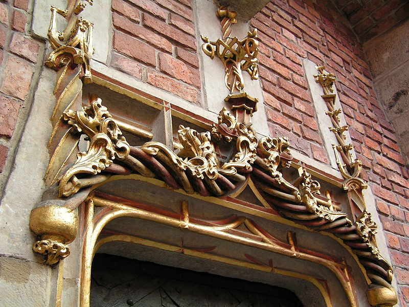 Collegium Maius. Porta Aurea - Gyllene portalen. Ingången till librerieBilden: Cancre, CC BY-SA 3.0, wikipedia.pl