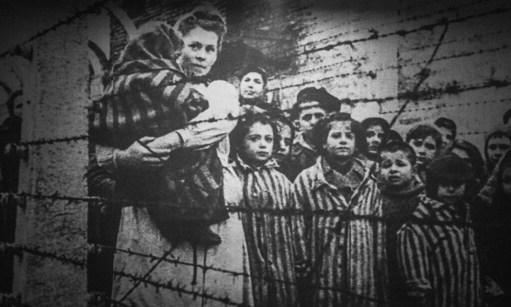 Auschwitz Birkenau var det största nazityska dödslägret. Förintelsen. Judar.